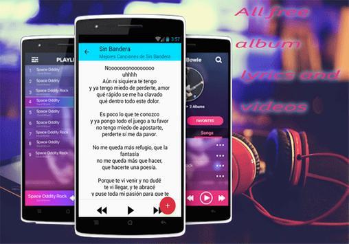 Sin Bandera Musica de Te vi venir Letras y Videos poster