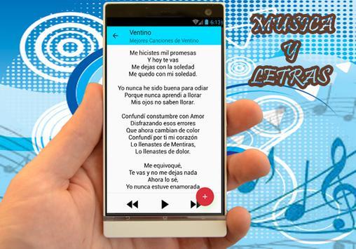 Ventino - Me Equivoqué musica y letras screenshot 1