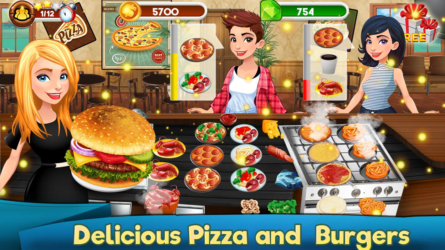 Kitchen chef cooking games madness cook restaurant screenshot 14