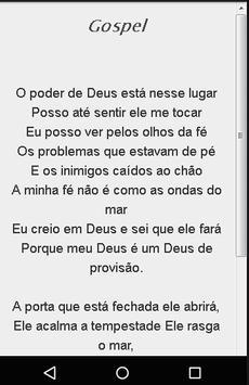 Músicas Letras Gospel apk screenshot