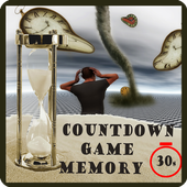 Brain memory countdown icon