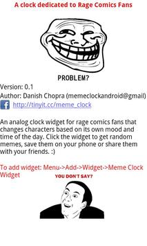 Meme Clock Widget apk screenshot