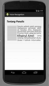 Voice Recognition Aceh apk screenshot