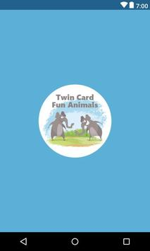 Funny Animal Two Card Games poster