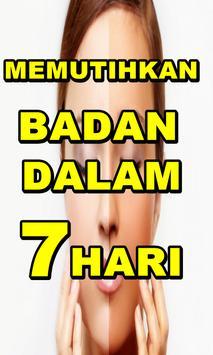 Tips Memutihkan Badan Dalam 7 Hari poster