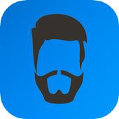 men beard and hair : photo editor icon