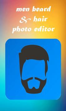 men beard and hair : photo editor poster