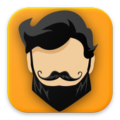Men hairstyle and haircut icon