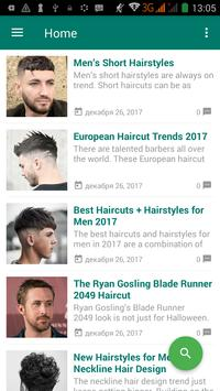 Men hairstyle and haircut poster