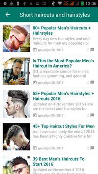 Men hairstyle and haircut screenshot 1