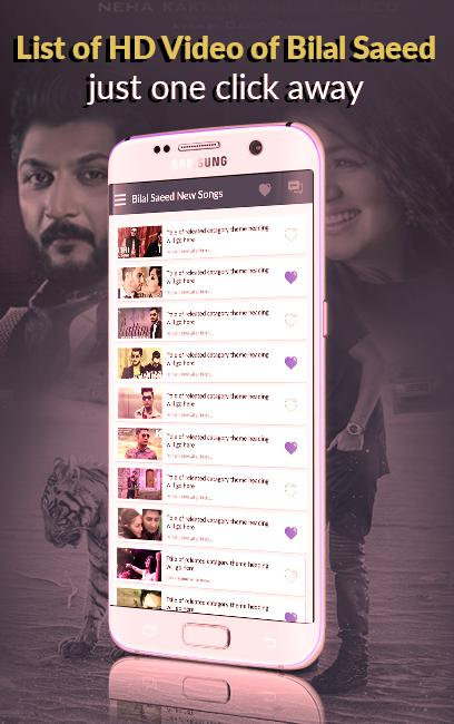 Bilal Saeed Hit Songs - New Punjabi Video Songs for Android