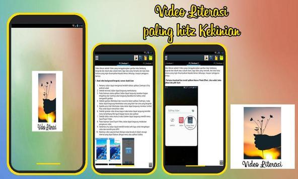 Panduan Membuat Video Literasi poster