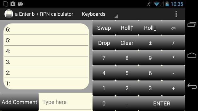 a Enter b RPN Calculator screenshot 5