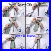 men's tie tutorial icon