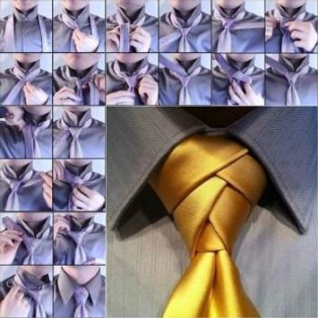 men's tie tutorial poster