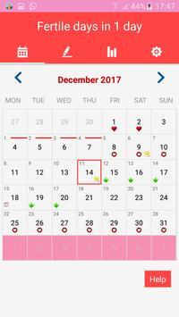 Period Tracker and Ovulation Calendar 2018 screenshot 3