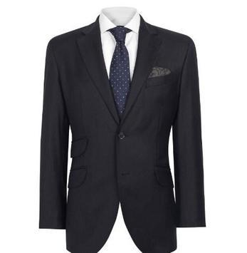 mens slim fit suits poster
