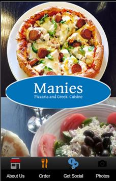 Manies Pizzaria & Greek poster