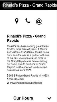 Rinaldi Pizza and Sub Shop apk screenshot