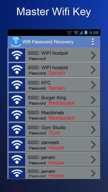 wifi master password