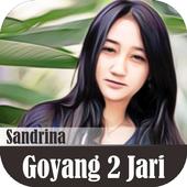 Lagu Sandrina Azzahra - Goyang Dua Jari  ( Lirik) icon