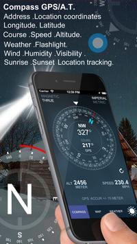 Compass GPS poster