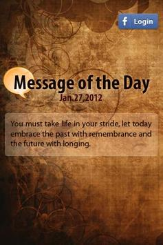 Message of the day poster
