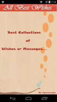 All Best Wishes  Message App poster