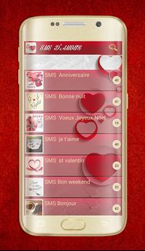 Beautiful French Love messages apk screenshot