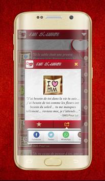 Beautiful French Love messages apk screenshot