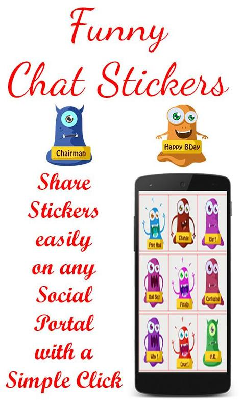... Adult Funny Chat Stickers apk screenshot ...
