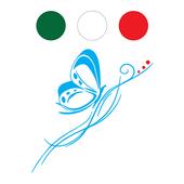 Adesivi design icon