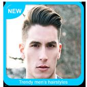 Trendy men's hairstyles icon