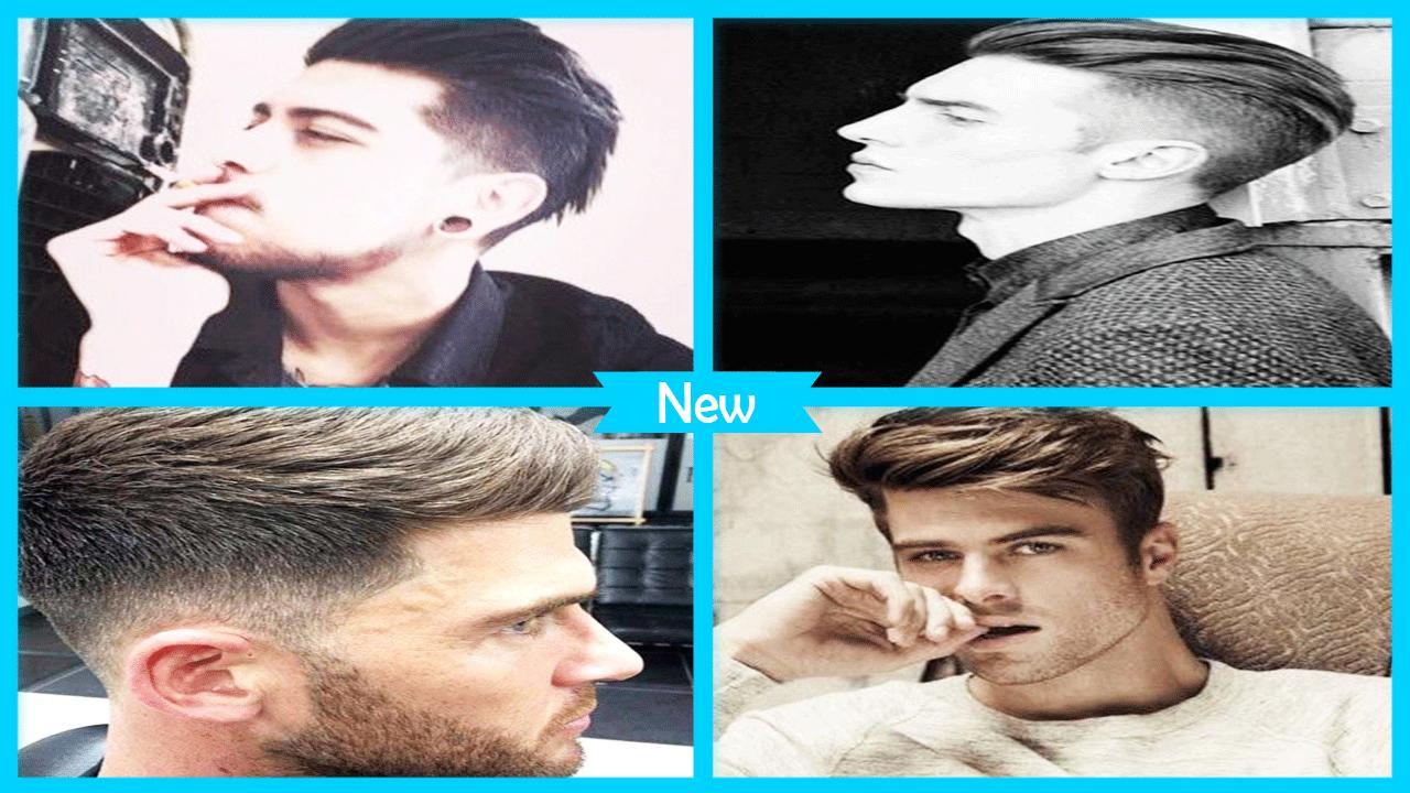 Trendy men's hairstyles poster