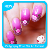 Calligraphy Rose Nail Art Tutorial icon