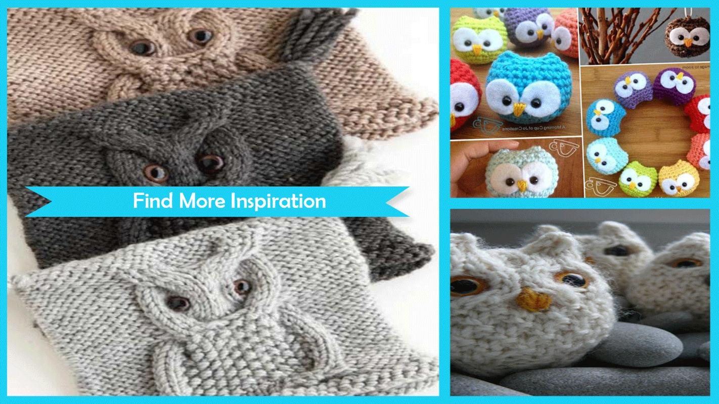 Cute Crochet Knitted Owl Pattern APK Download - Free Art & Design ...