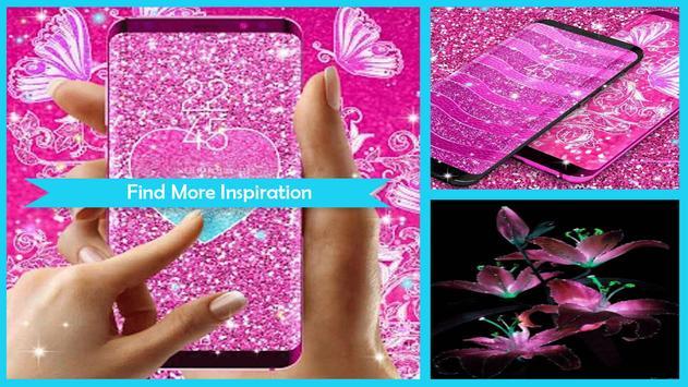 Pink Glitter Live Wallpaper poster