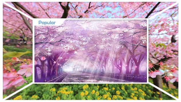 Sakura Cherry Blossoms Live Wallpaper screenshot 1