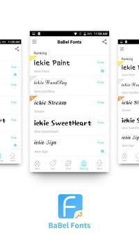 BaBel Fonts - Enjoy Happy Life apk screenshot