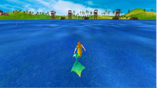 Hungry Mermaid Simulator Sea poster