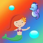 mermaid match 3+ puzzle swap icon