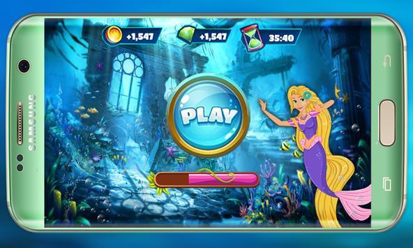 Mermaid Rapunzel in wonderland: Mermaid adventure screenshot 3