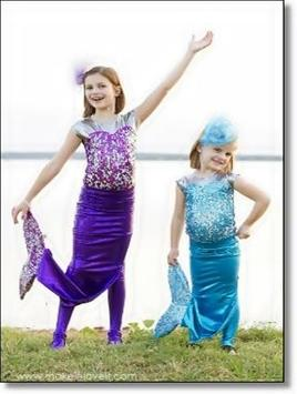 Mermaid Child Costume Design Ideas apk screenshot