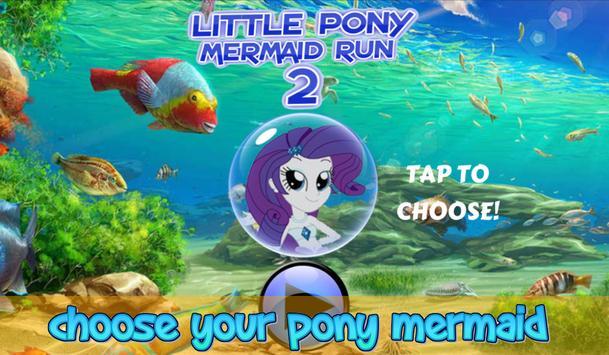 Little Pony Mermaid Run 2 poster