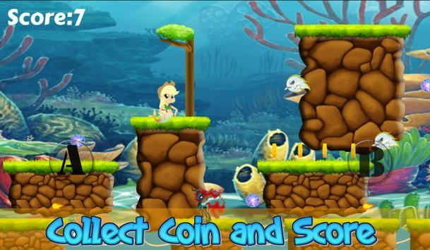 Little Pony Mermaid Run 2 screenshot 2