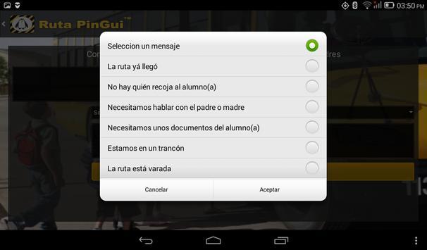 Ruta PinGui Conductor screenshot 3