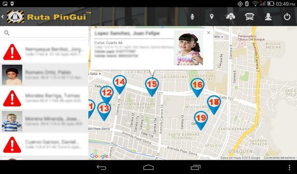 Ruta PinGui Conductor screenshot 1