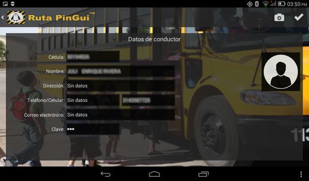 Ruta PinGui Conductor screenshot 5