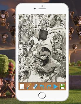 Step by Step Drawing COC Characters screenshot 1