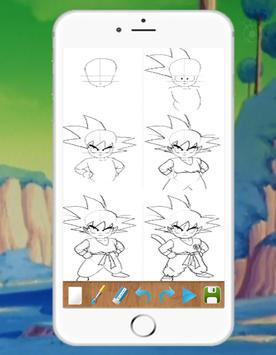 Drawing DBZ Characters step by step poster